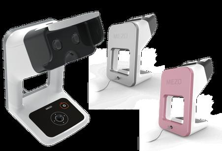両眼視機能検査装置ミエゾウの商品写真、背面カラー(シルバー・ピンク)