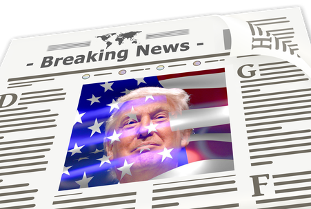 Donald Trump in a newspaper!