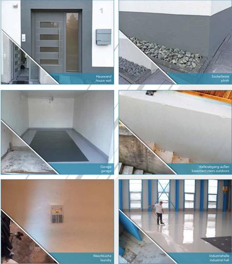 Versiegelung und Beschichtung von Hallen, Sockel, Garagen uvm