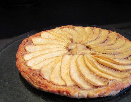 Tarte aux pommes très gourmande
