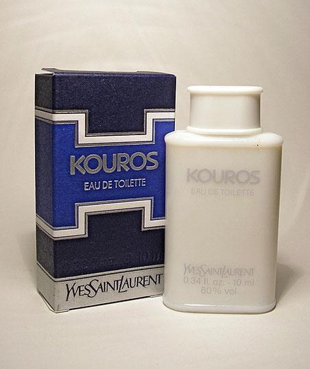 KOUROS - EAU DE TOILETTE 10 ML : CHANGEMENT DE LA BOÎTE AUX COULEURS DIFFERENTES