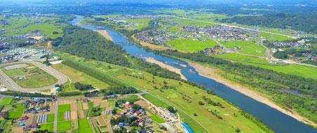 ラジコン空中撮影水沢競馬場付近