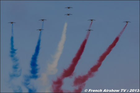 BA-701 : CEMAA /Ambassadeurs 2013  60 ANS Patrouille de France Rafale Solo Display Alphajet  Airshow