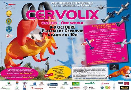 Cervolix 2011 Plateau Gergovie Patrouille de France 2011  EVAA cartouche doré cerf-volant photo video airshow clermont  ferrand auvergne