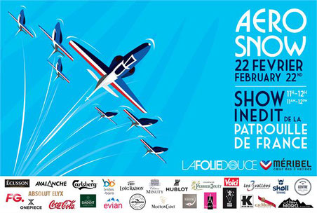 Meeting Aerien Roanne 2017 Patrouille de france a l'Aerosnow at meribel les 3 vallees