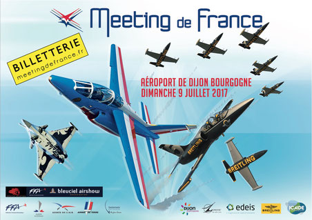 Meeting de France Dijon 2017, airshow 2017