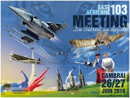 Meeting Aerien 2010 Cambrai F-16 Rafale BA-103