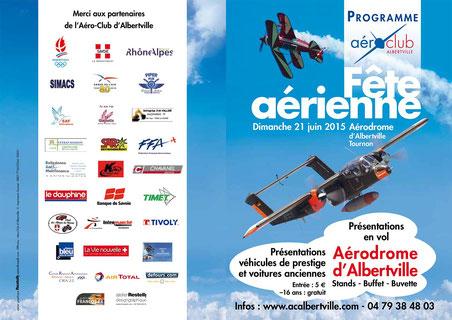 Reportage Photos Fête Aerienne d'Albertville 2015, Spectacle Aerien Aerodrome de Tournon Alberville 2015