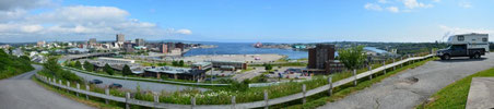 Blick auf Saint John vom Fort Howe Lookout aus