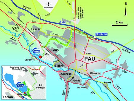 iktus location plan d'accés