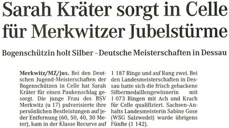 Artikel - DM Jugenklassen 2006 in Celle