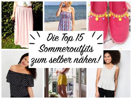 Die Top 15 Sommeroutfits zum selber nähen! Kostenlose Schnittmuster und Anleitungen.