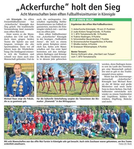 Altmark-Zeitung vom 09.05.2017, von Maik Bock