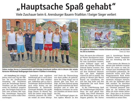 Altmark-Zeitung vom 18.09.2017, von Maik Bock