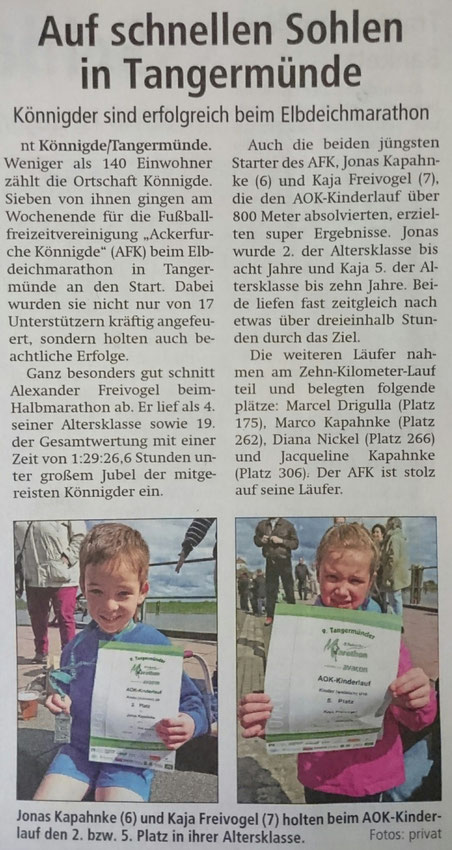 Altmark-Zeitung vom 19.04.2016, von Niels Troelenberg