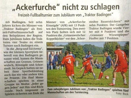 Altmark-Zeitung vom 08.10.2015, von Maik Bock