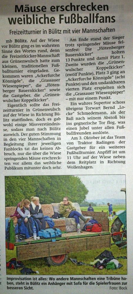 Altmark-Zeitung vom 16.09.2015, von Maik Bock