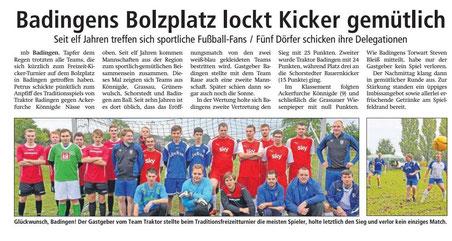 Altmark-Zeitung vom 14.10.2016, von Maik Bock