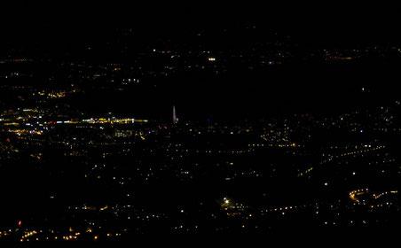 La plaine genevoise la nuit.