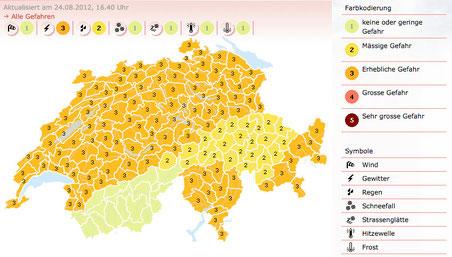 Screenshot: meteoschweiz.admin.ch