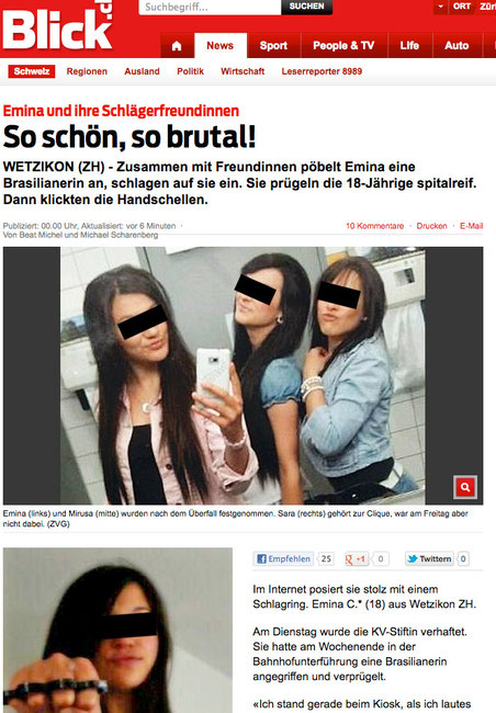"Bild: Screenshot ""Blick Online"""