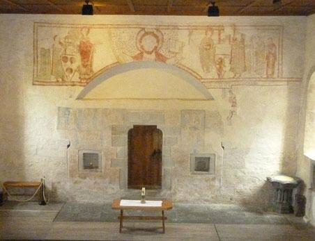 Das Stifterbild in der Ritterhaus-Kapelle stellt die Schenkung an den Johanniterorden dar.