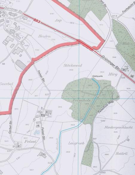 Bild: Ortsplan Gemeinde Bubikon