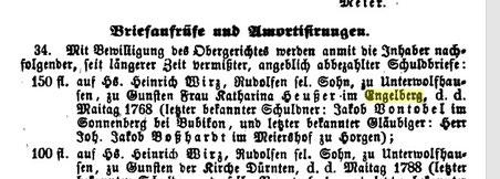 In einem alten amtlichen Aufruf erwähnt: Engelberg-Bewohnerin Katharina Heusser im Jahr 1768.