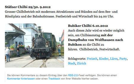 """Screenshot: Online-Ausgabe des """"Tages-Anzeigers"""" vom 14. September 2012)"""
