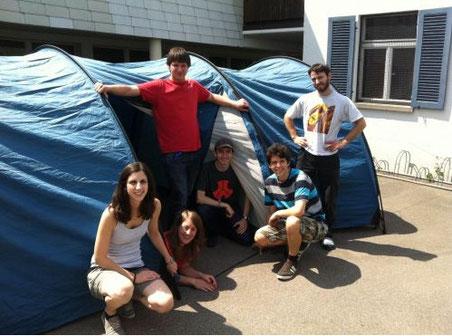 Sind die Zelte wasserdicht? (Bild: www.cevi-buwo.ch)