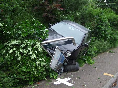 Unfall in Wolfhausen am 23. Juni 2013