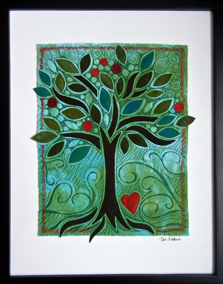 teal tree with heart