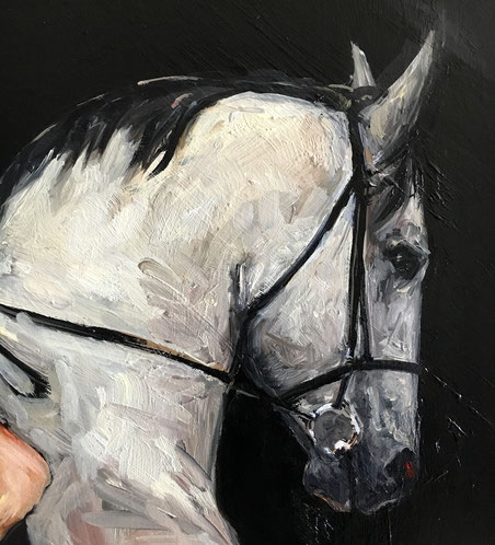 "Detail of: ""Lady Godiva riding to Brussels"" 2016, ca. 200cm x 80cm- by Fiona Hernuss"