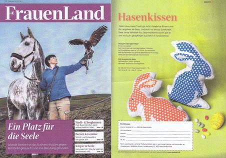 """musterkitz im FrauenLand der BauernZeitung mit Bubenhemd """"Geissli"""""""