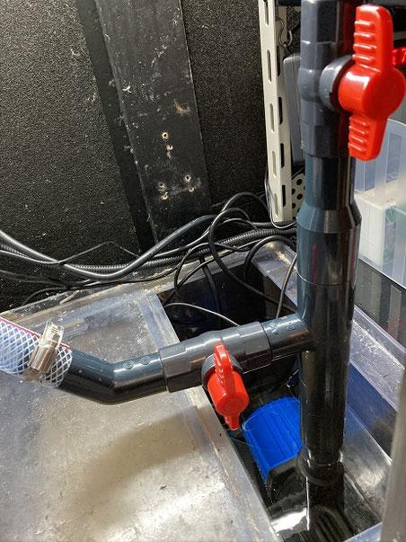 600サイズオーバーフロー水槽 室外クーラー DCポンプ 水中ポンプ