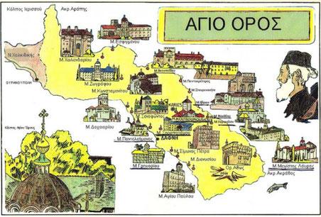 Berg Athos - Mount Athos