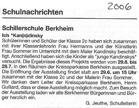 Quelle: Schulnachriten Schillerschule Berkheim 2006