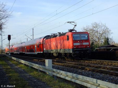 Am 29. Dezember 2012 verlässt 143 244-2 gerade den Hp Dresden Stetzsch