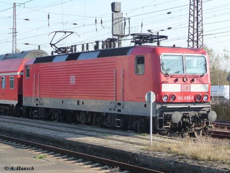 143 639-3 steht am 22. Oktober 2011 in Luth. Wittenberg Hbf.