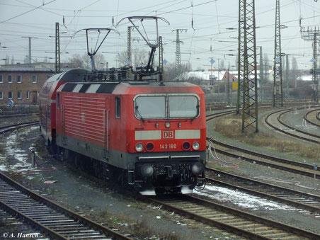 Am 9. Februar 2013 stand 143 180-8 am Leipziger Hbf.