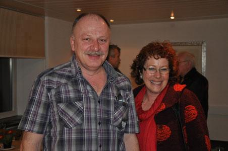 Die geehrten langjährigen Vorstandsmitglieder: Martin Wyss (23 Jahre) und Edith Leuenberger (28 Jahre)