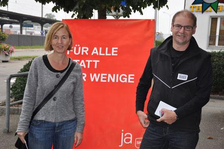 Nationalratskandidaten Susanne Schaffner-Hess und Urs Huber