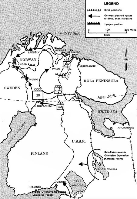 This fuzzy map of the German withdrawal from Finland in the summer of 1944 gives a good sense of the strategic position of the Lyngen Line as a bulwark against possible Soviet Army advances into Norway from Finland and Sweden (from Wikipedia:Lapland War).