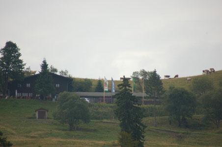die Krunkelbachhütte im Morgennebel