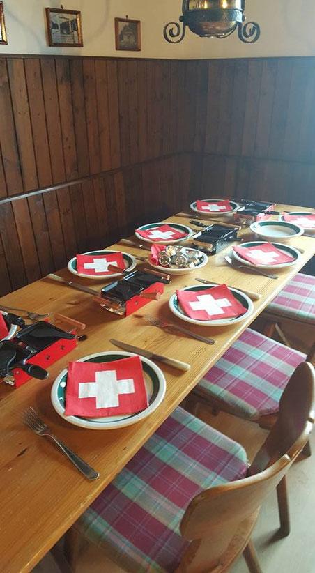 Abendessen: Raclette
