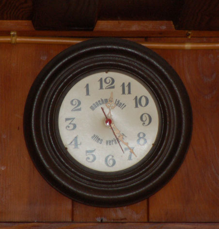 in der Krunkelbachhütte gehen die Uhren anders