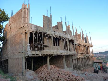 eine ugandische Baustelle