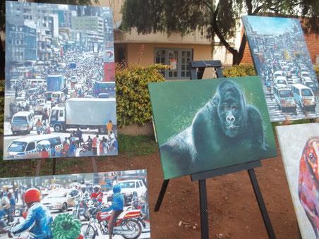 Kunstwerke beim LaBa Arts Festival