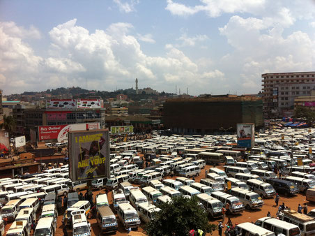 der Blick auf das Chaos. Old Taxipark, Kampala