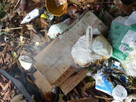 unsere eigene Mülldeponie und Verbrennungsanlage im Garten